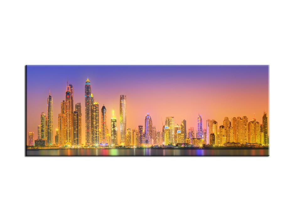 Tableau toile déco panoramique Dubai