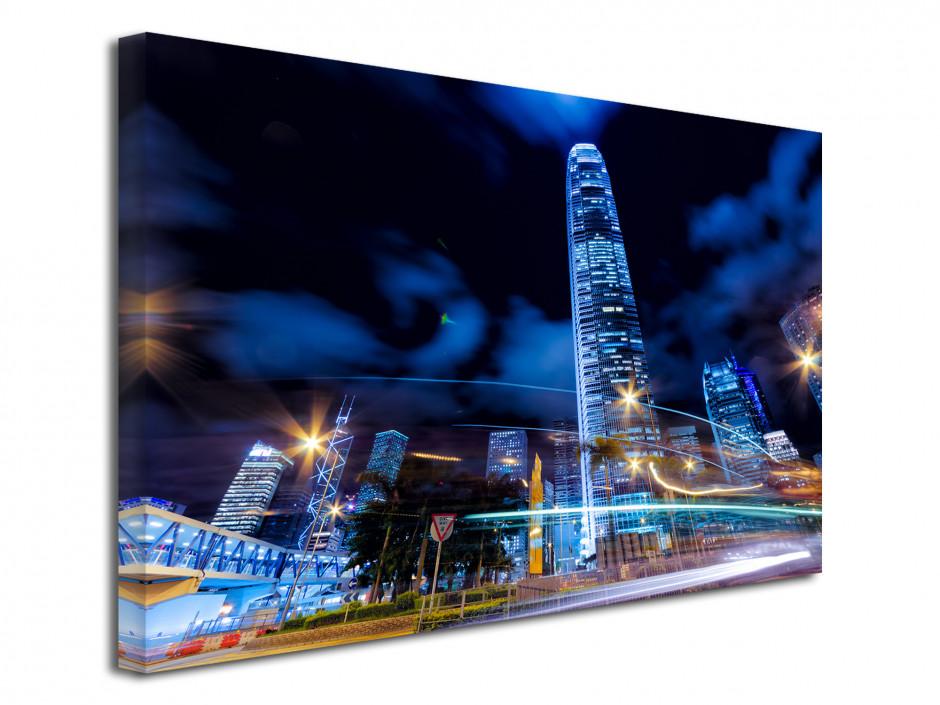 Tableau deco design Hong Kong de nuit