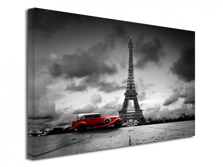 Tableau deco Tour Eiffel et Vieille Voiture