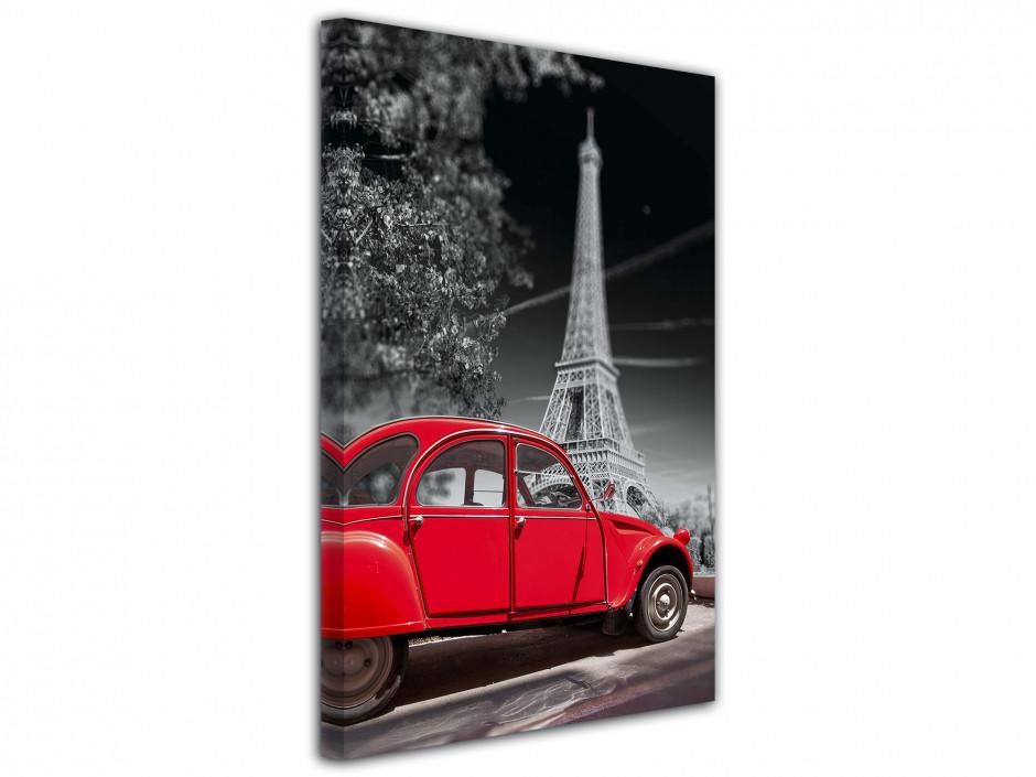 Tableau décoratif Tour Eiffel et 2CV