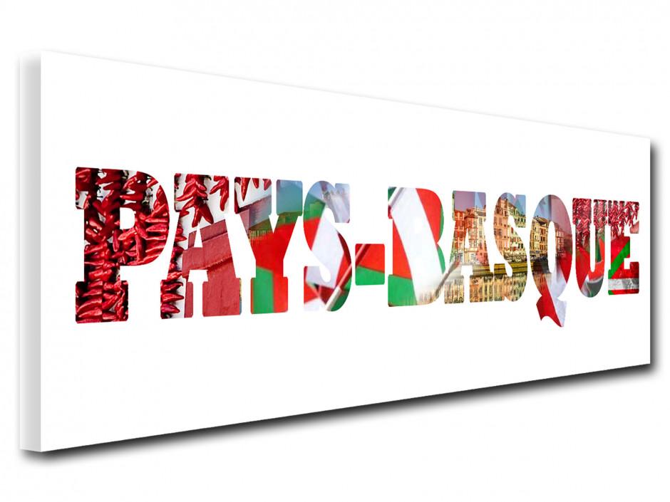 Tableau toile deco lettrage Pays Basque