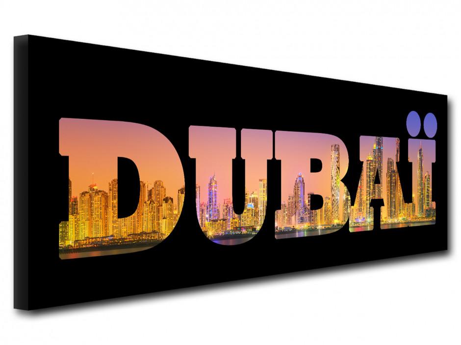 Tableau deco lettrage Dubai