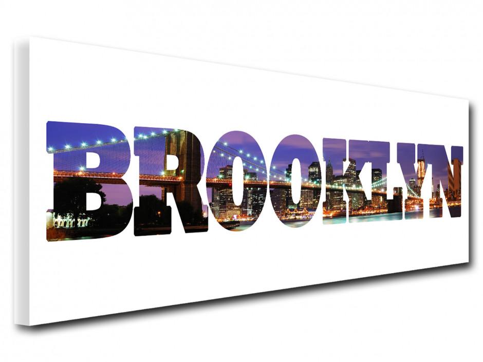 Tableau toile deco lettrage Brooklyn