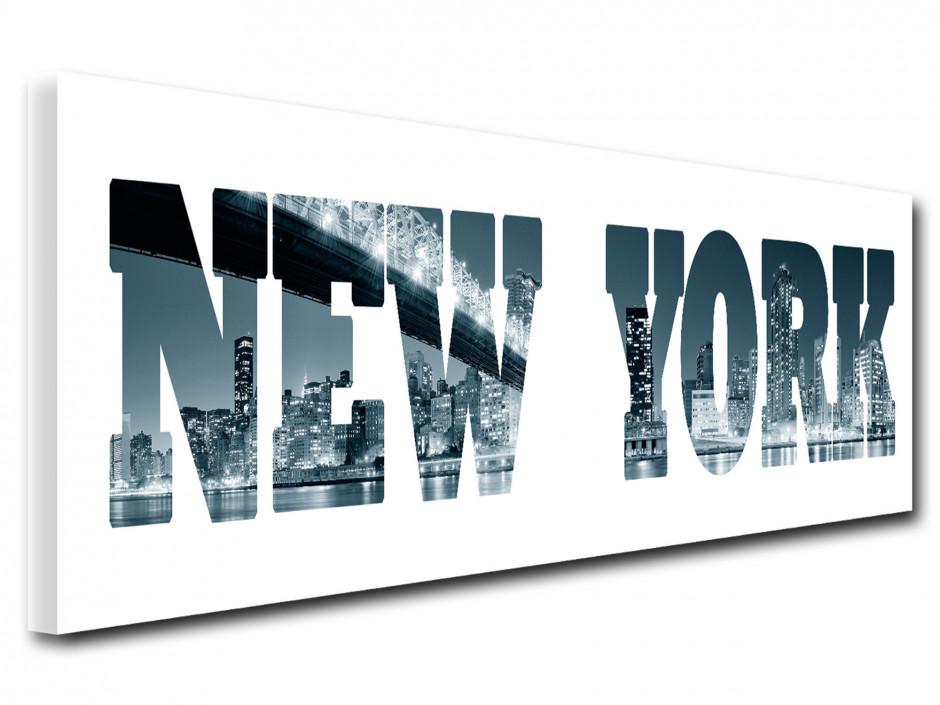 Tableau décoratif lettrage New York