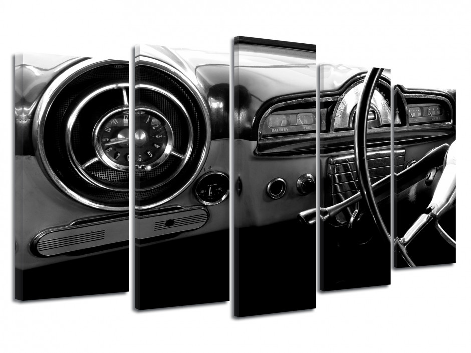 Tableau toile deco voiture vintage