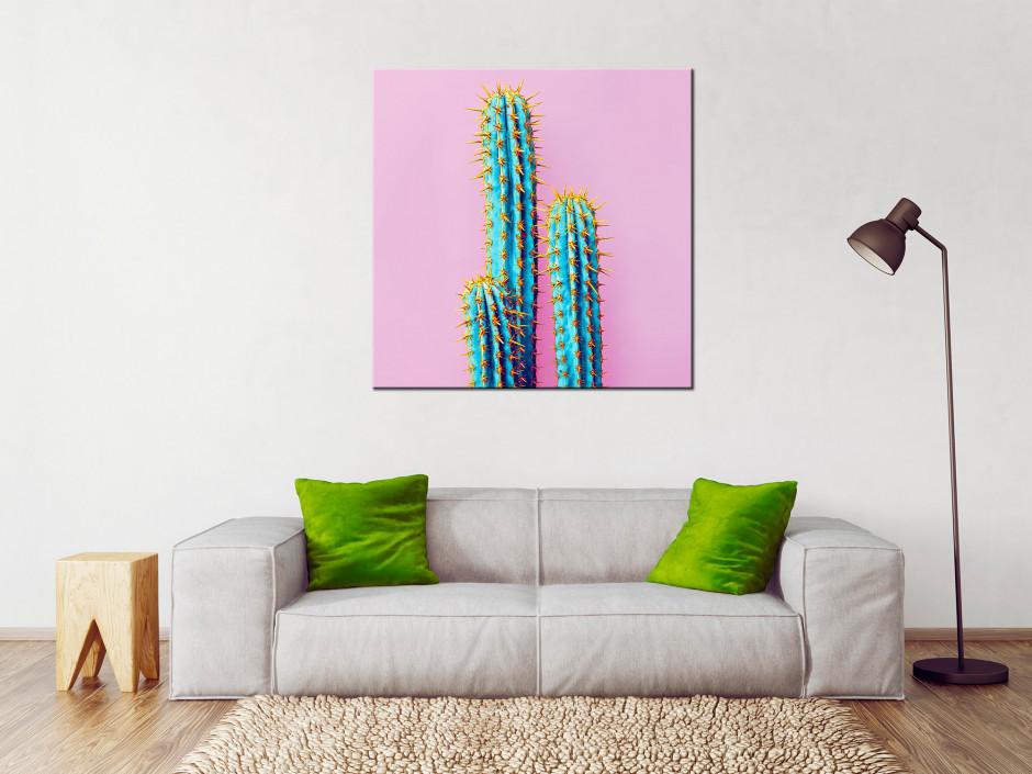 Tableau toile deco vintage Cactus