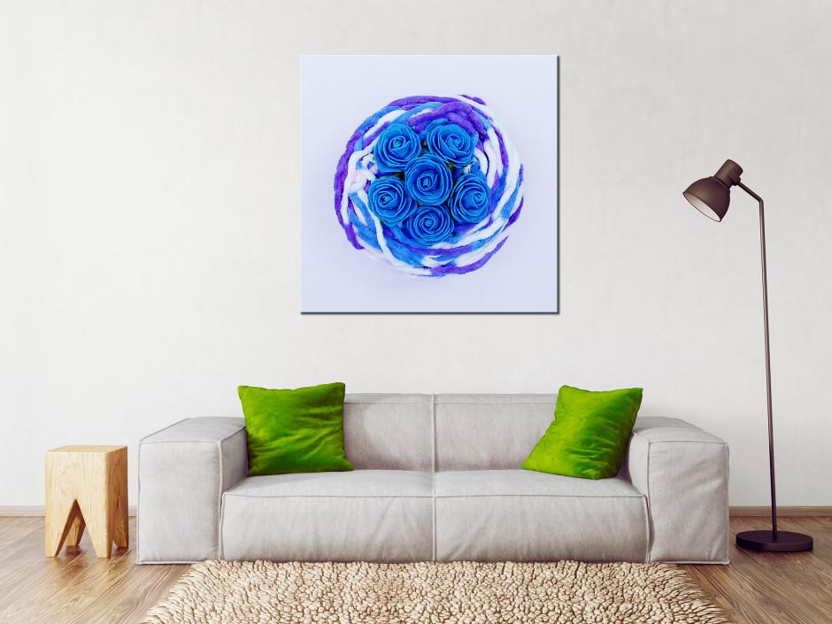 Tableau toile de moderne Les roses bleu