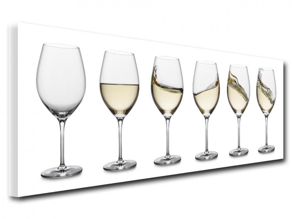 Tableau deco vintage Verre de vin