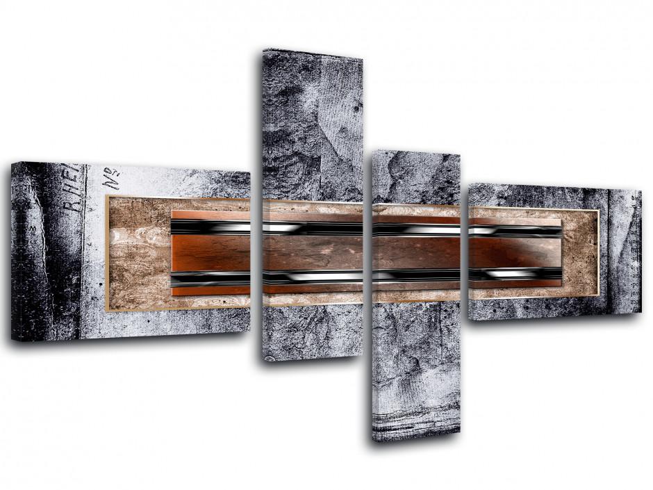 Cadre deco moderne 4 panneaux ADHARA