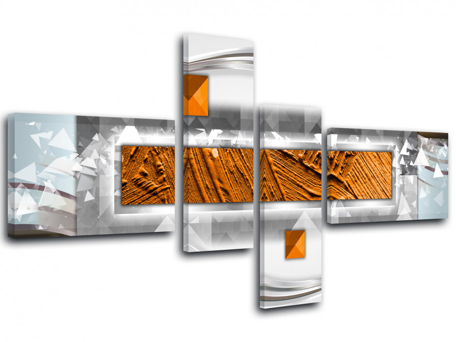 Tableau multi panneaux moderne Abstrait
