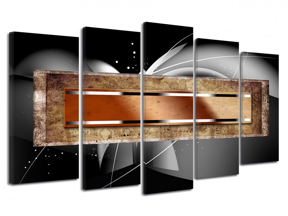 Tableau deco abstrait 5 panneaux MERAK