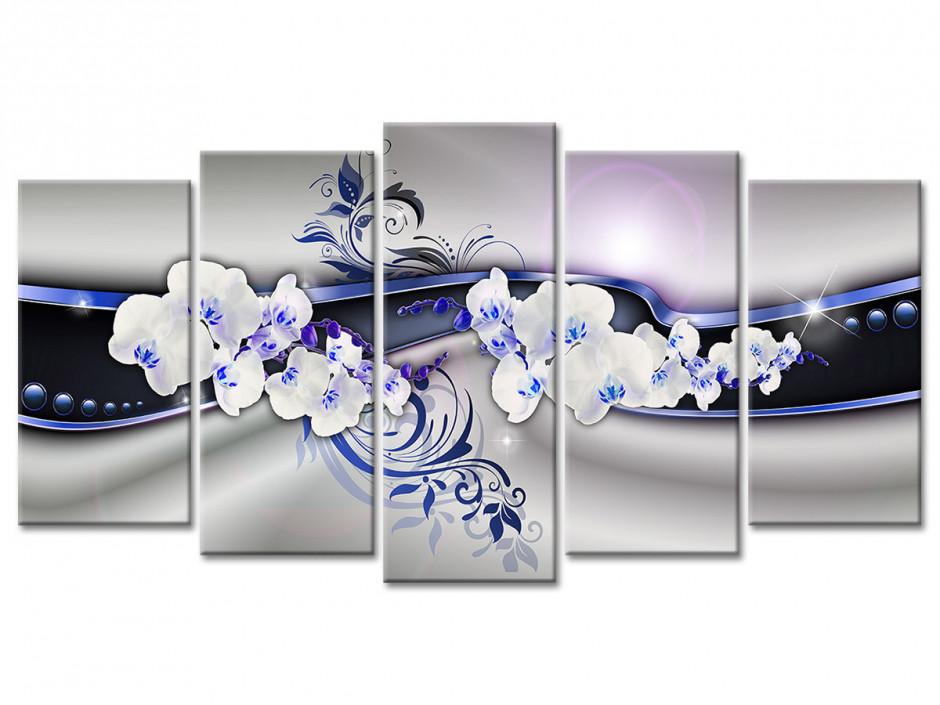 Cadre deco murale abstrait et Orchidées