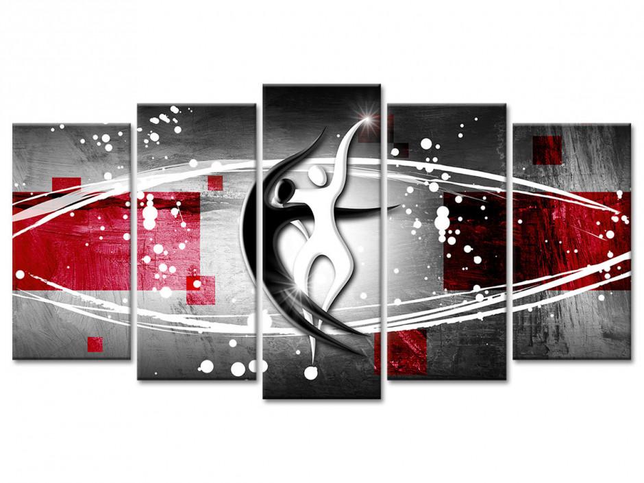 Tableau deco design moderne silhouette danseurs