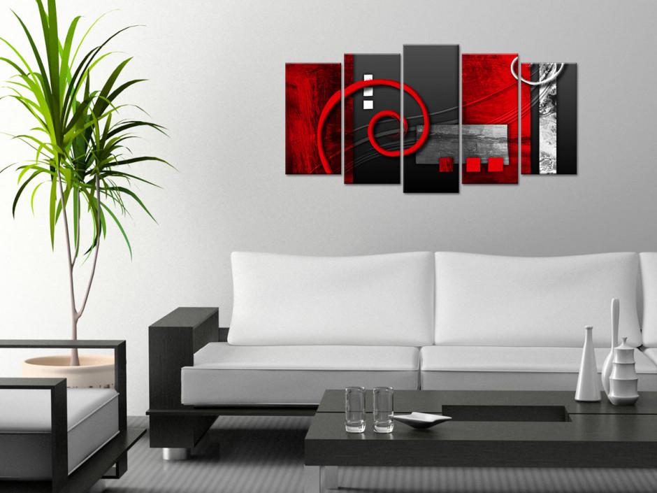 Tableau toile moderne abstraite 4 panneaux