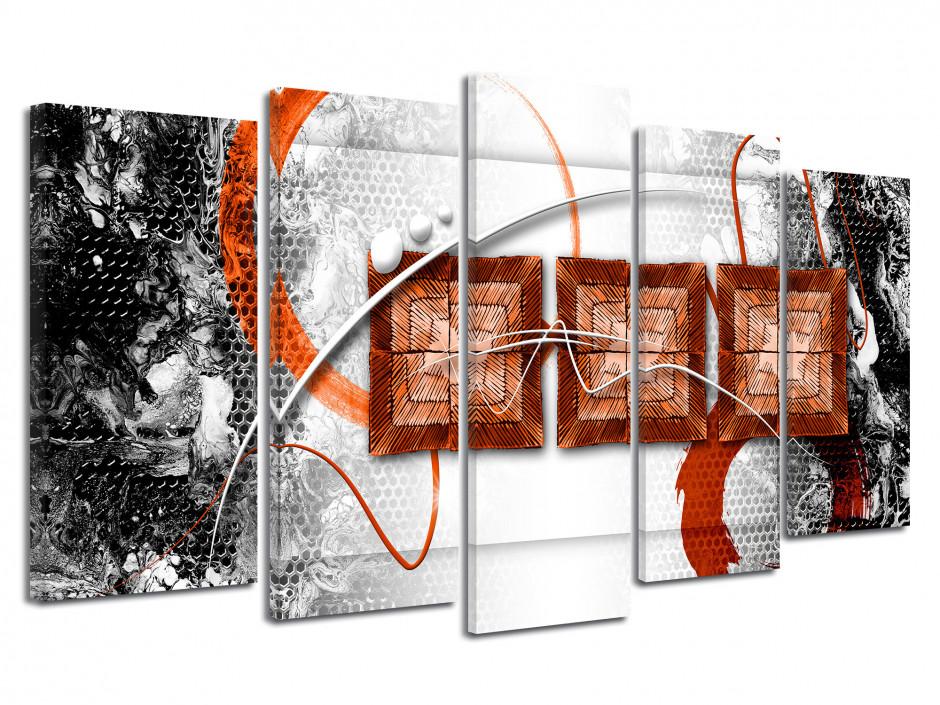 Toile murale abstraite multipanneau