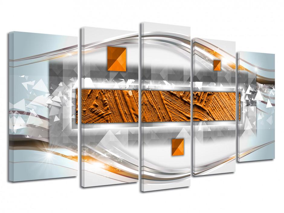 Tableau multipanneau abstrait moderne